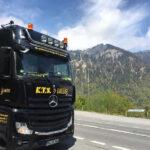 KTS Mercedes-Benz Actros vor Alpenpanorama