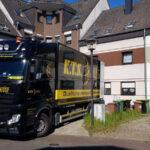 Mercedes-Benz Actros im Einsatz beim Wohnungsumzug mit KTS aus Bonn