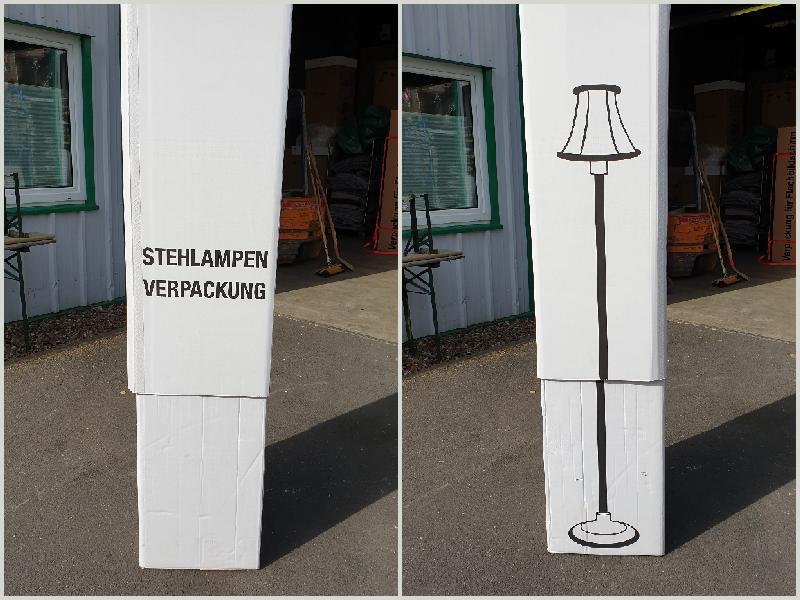 KTS Stehlampenverpackung Collage