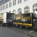 Actros und Sprinter bei KTS Umzug der St. Josef Schule in Bad Honnef